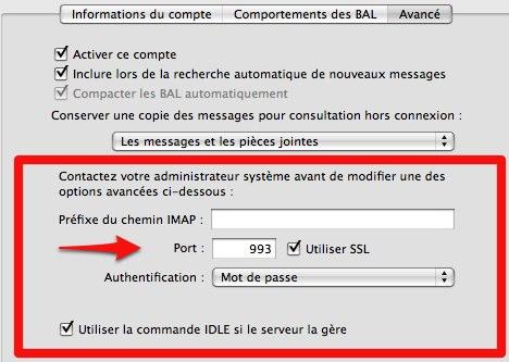 Fonctions avancées Gmail sur Mail