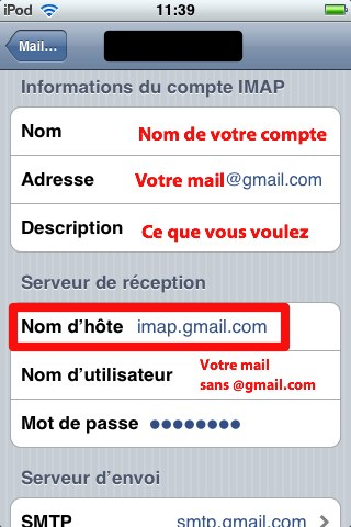 Mail sur iPod Touch ou Iphone