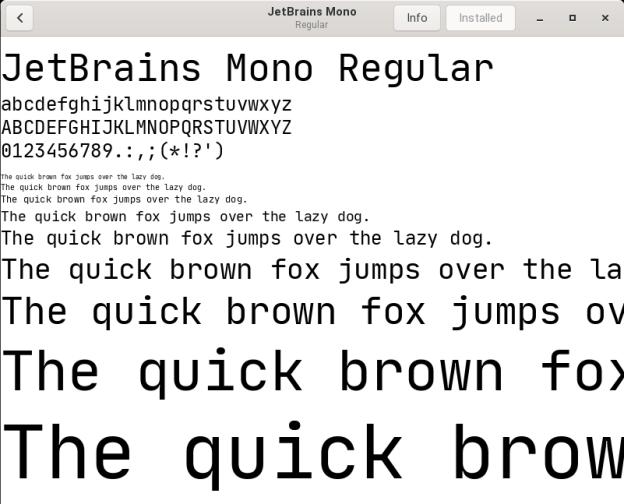 Install JetBrains Mono in Debian/Ubuntu
