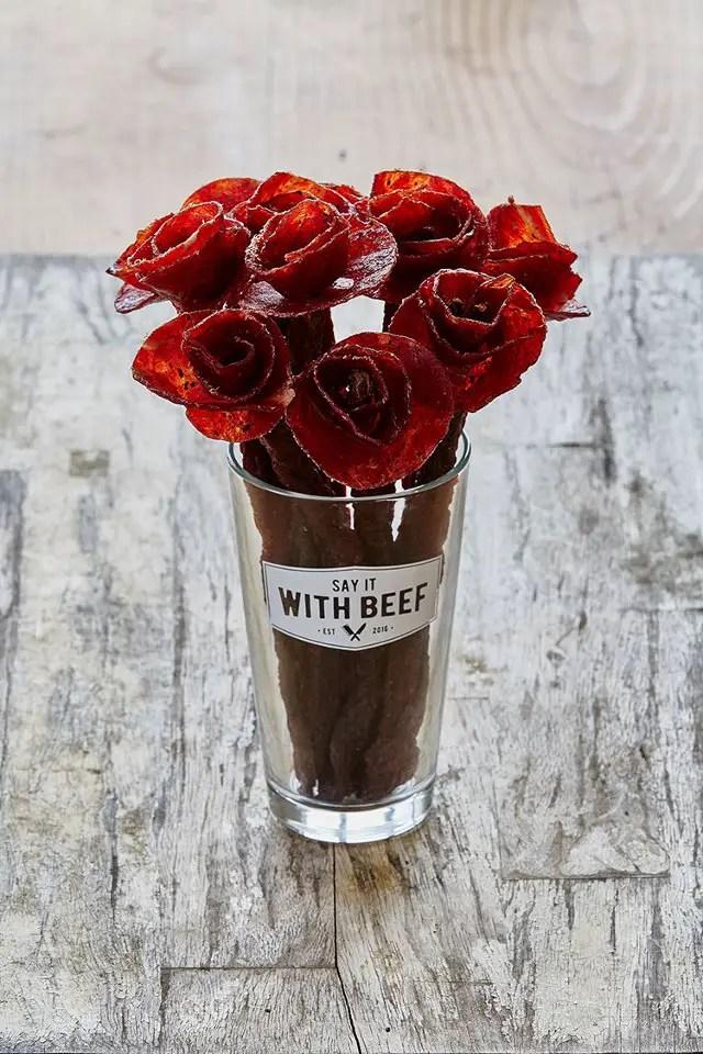 beef jerky flower bouquet
