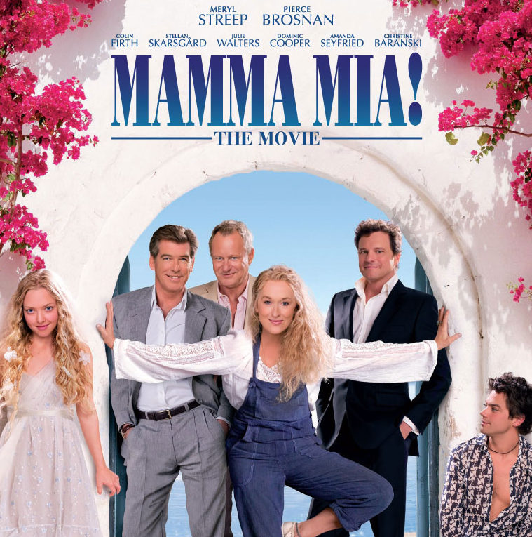 Mamma Mia Meryl Streep Pierce Brosnan POSTER