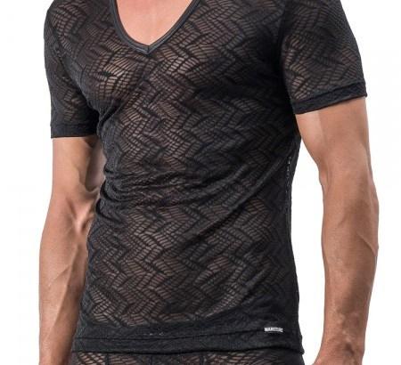 MANSTORE transparentes V-Neck-Shirt