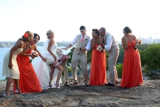 Robbie & Kerry wedding - Cheeky!