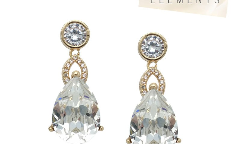 Chrysallini CAE0012 Swarovski Tear drop earrings $49