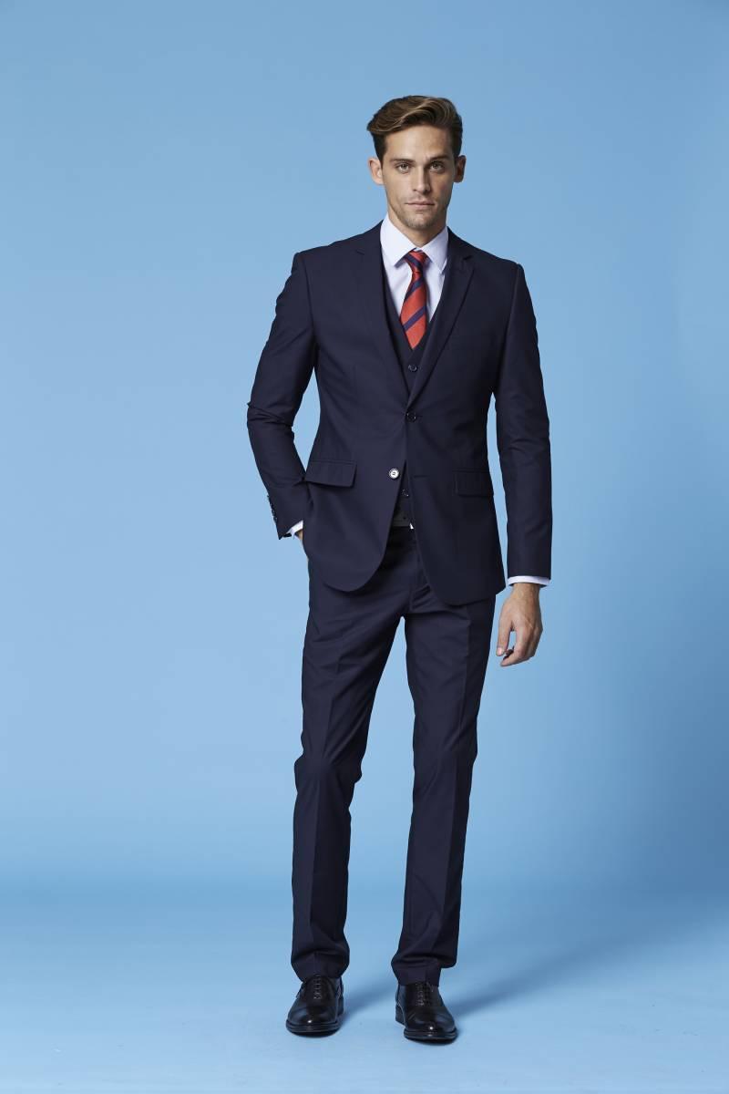 Deniro 92432 Slim fit Navy Blue 2 piece Suit WAS $220.00 NOW $150