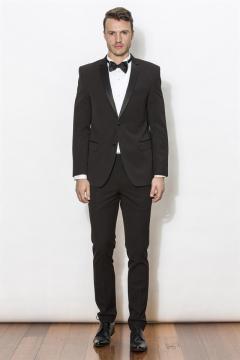 New England London black Dinner suit / Tuxedo 2 piece $399