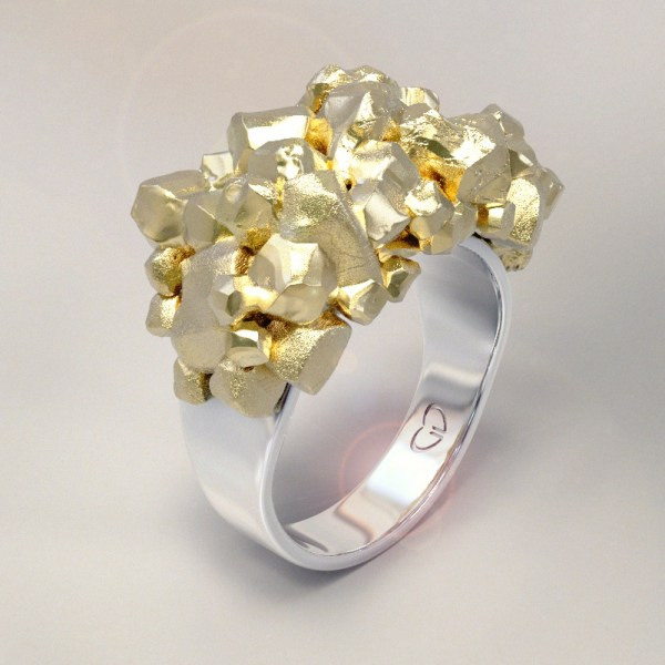 Pepitos – 14k White and 18k Yellow Gold