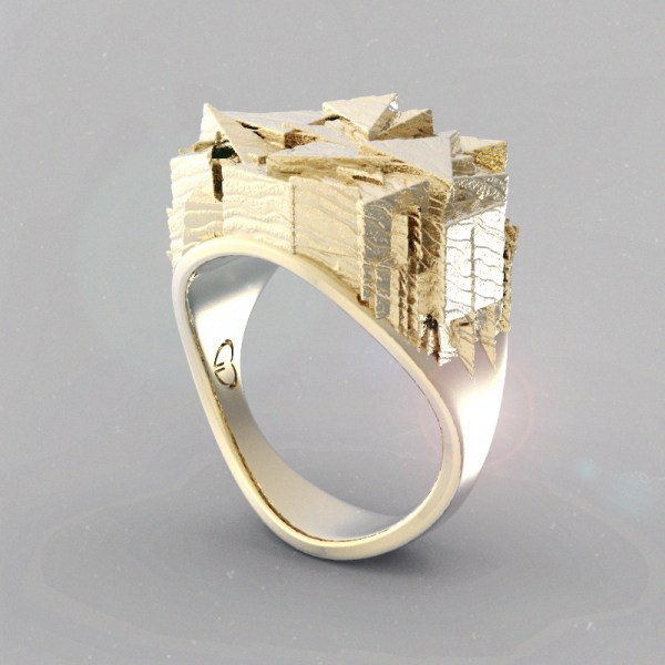 Tris – 14k Yellow Gold
