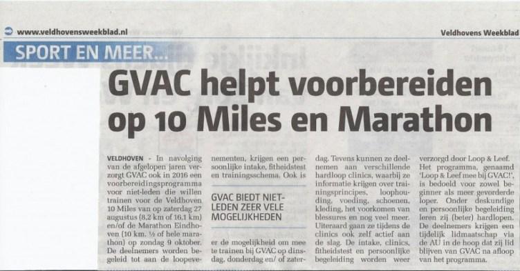 Artikel Veldhovens Weekblad