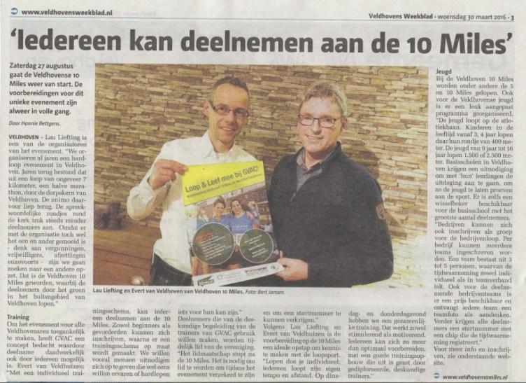 Artikel Veldhovens Weekblad V10M