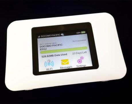 グアムに滞在中どこでも使える、最新モデルのWI-FIルーター