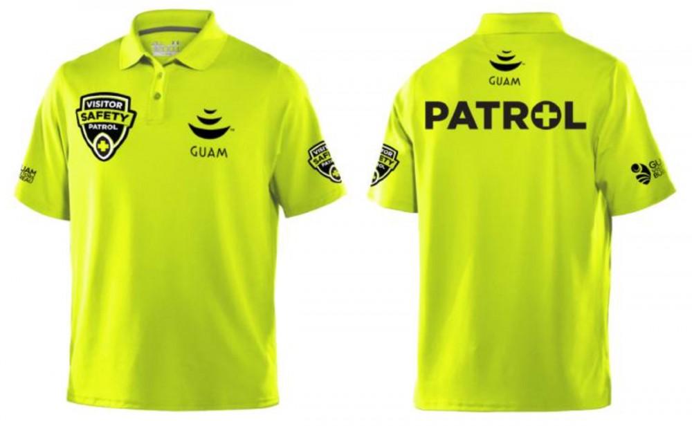 パトロール隊員のポロシャツ (グアムのビジターセイフティオフィサープログラム)