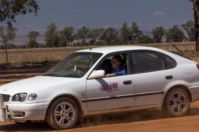 Steph Cooke MP been taken on a few 'hot laps' of the Illabo Motorsport Track -- Illabo Motorsport Park March 10, 2021