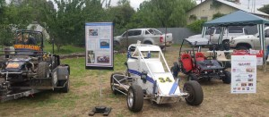 #59 and #34 Midgets and Billy Cart on static display promoting Gasworks Motorsports Inc and Illabo Motorsports Park out at the Stockinbingal Market day on November 24, 2018