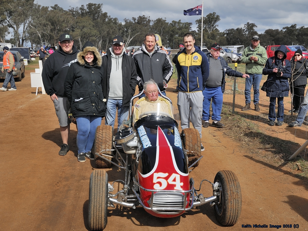 Sid Middlemass, family & friends and the REPCO Volvo # 54, at Illabo Motorsports Park