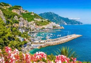 Amalfi Coast with beautiful Gulf of Salerno, Campania