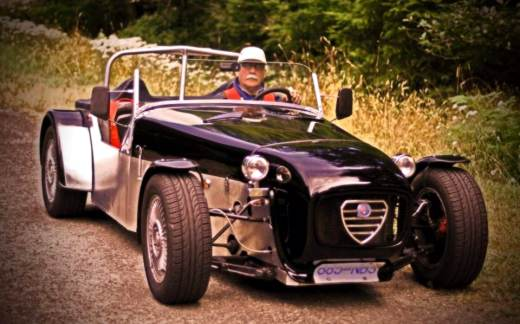 It's a Lotus.  It's an Alfa!  No, it's Wil Caron's highly original, thoroughly non-originale use of 1978 Alfetta bits and pieces.