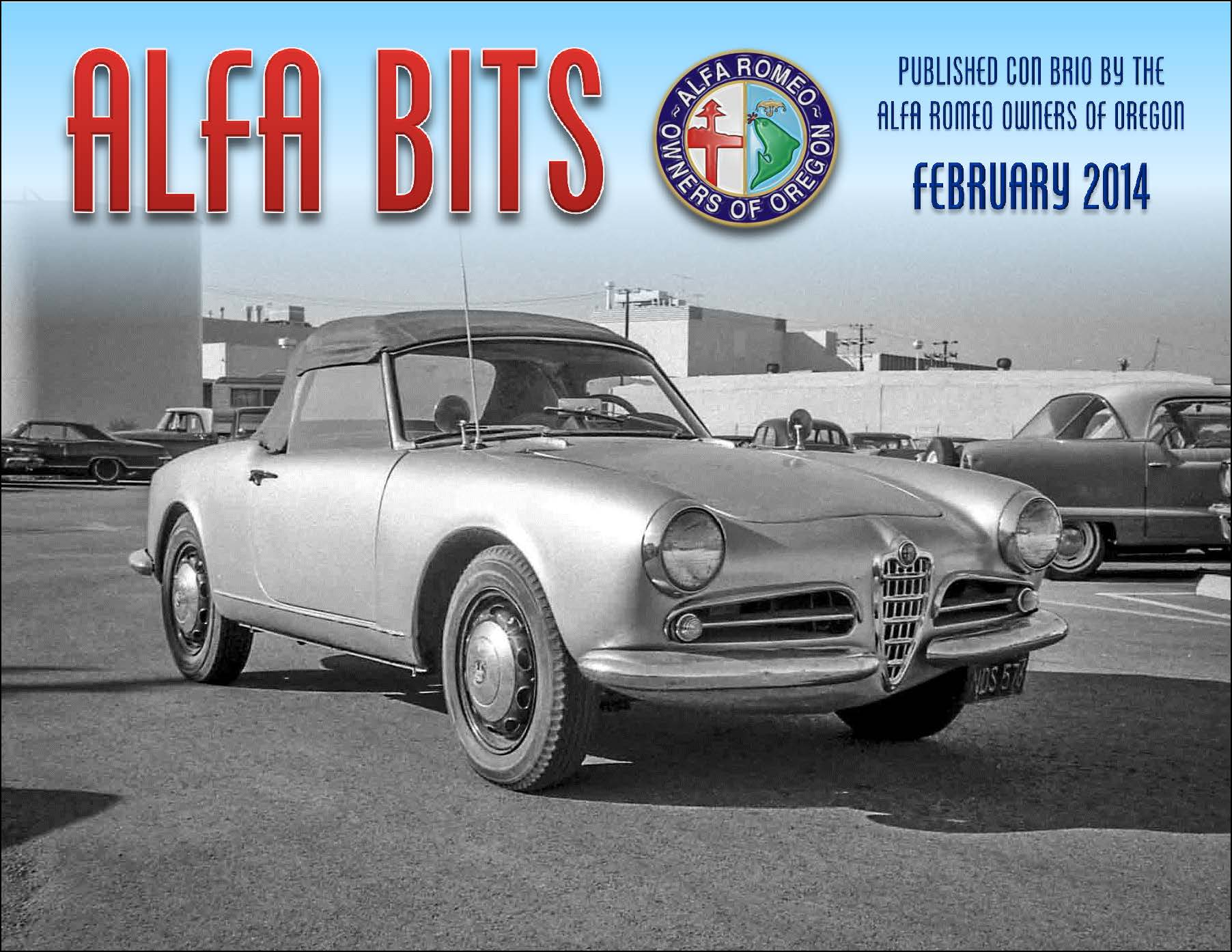Garys Alfa In The Oregon Clubs Magazine Williams Family Romeo Magazines Alfacluborg Newsletters Files Bits 2014 02 Page 01
