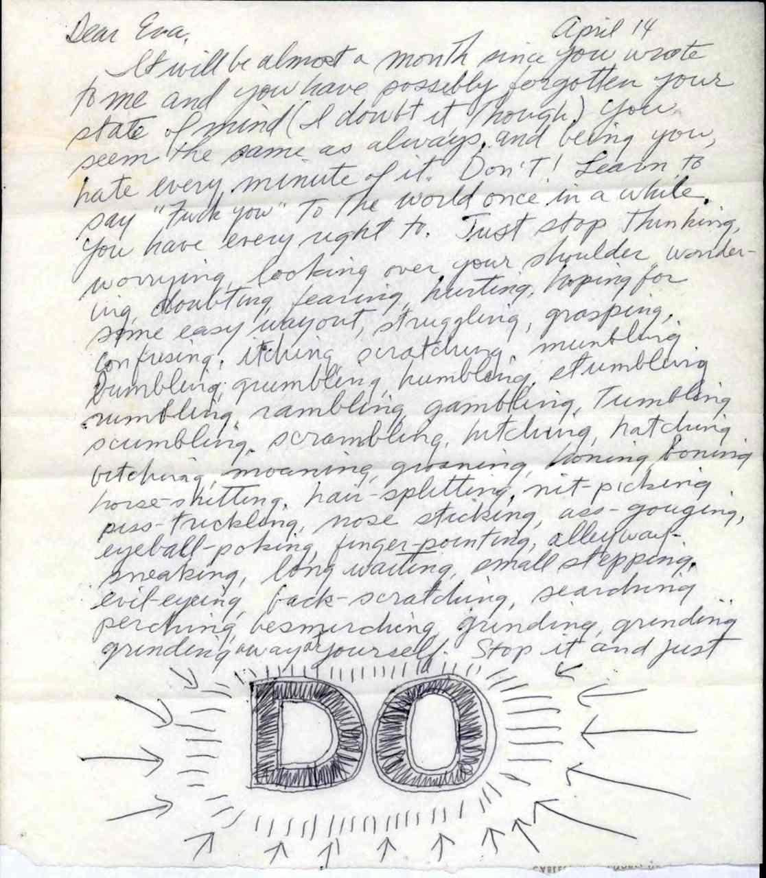 Sol LeWitt-Eva Hesse Letter-Page 1-FINAL