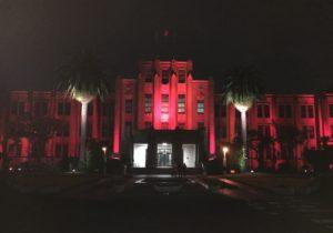 宮崎県庁ライトアップ