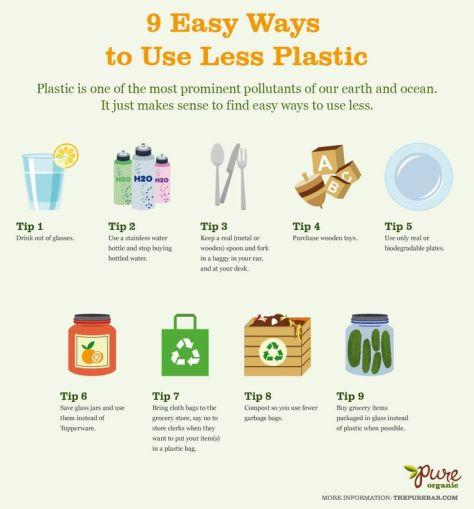 use less plastic