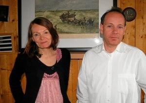 Les sons de la harpe de Gwenael Kerleo et du piano de Yann Crépin font un joli mariage