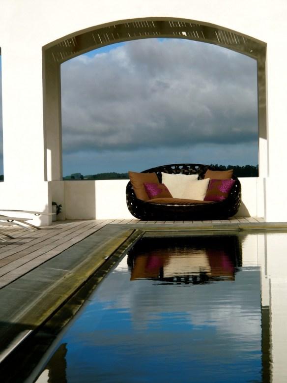 Estancia Vik Pool Sunset