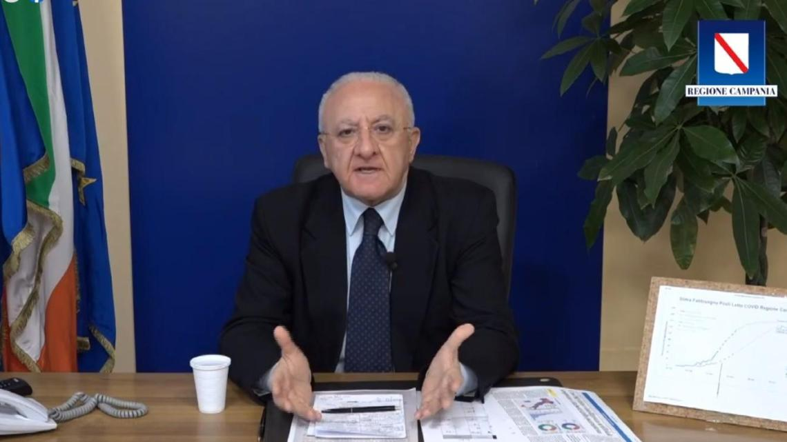 Campania, De Luca prolunga la quarantena fino al 14 Aprile - Gwendalina.tv