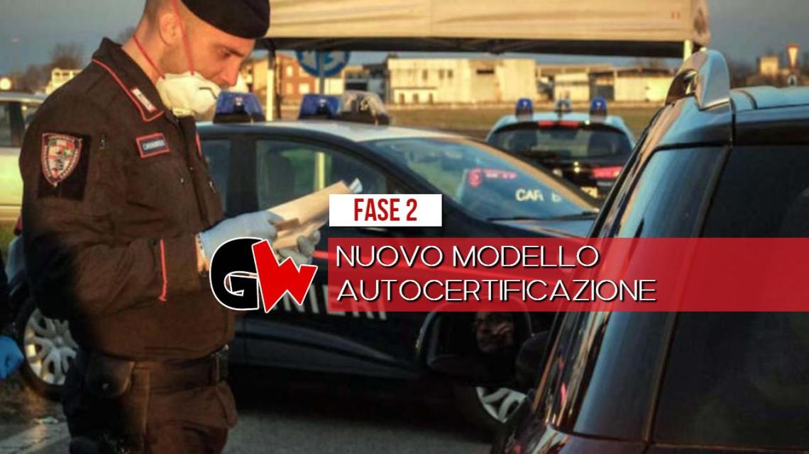 Nuovo modello autocertificazione, scaricalo con un click sul nostro sito - Gwendalina.tv