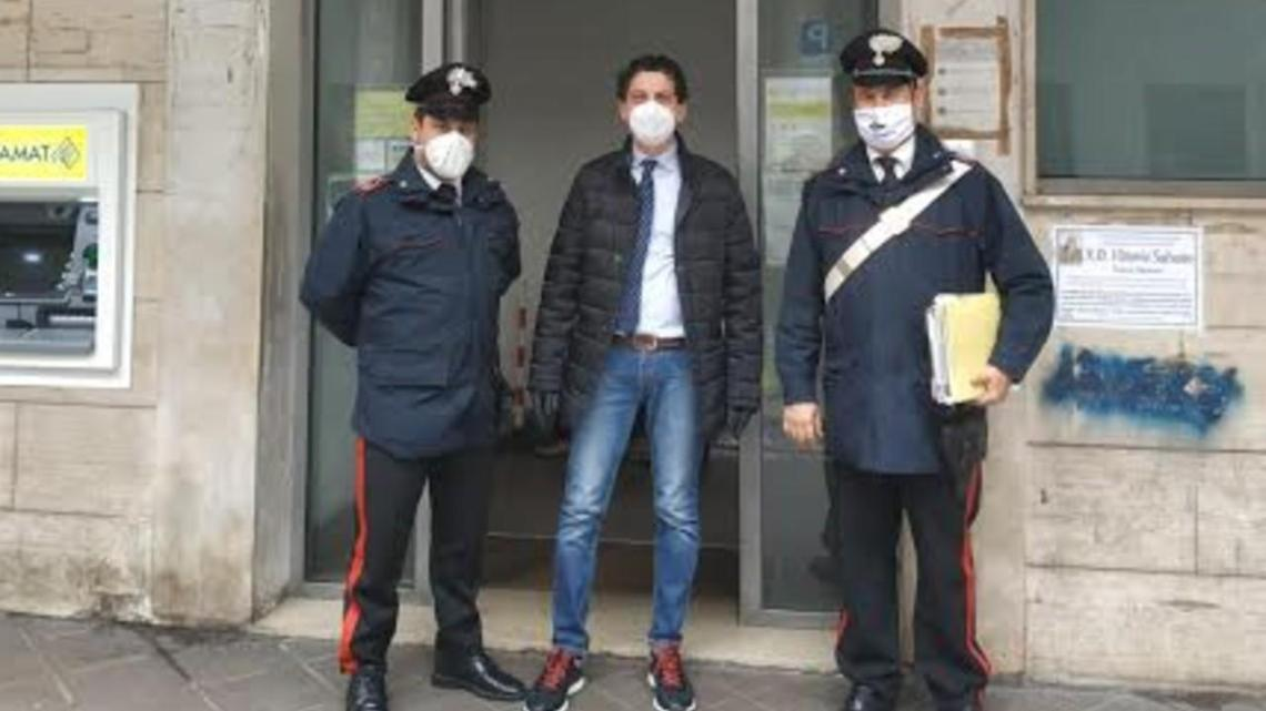 A Cava de' Tirreni Carabinieri e Posta consegnano le pensioni a domicilio - Gwendalina.tv
