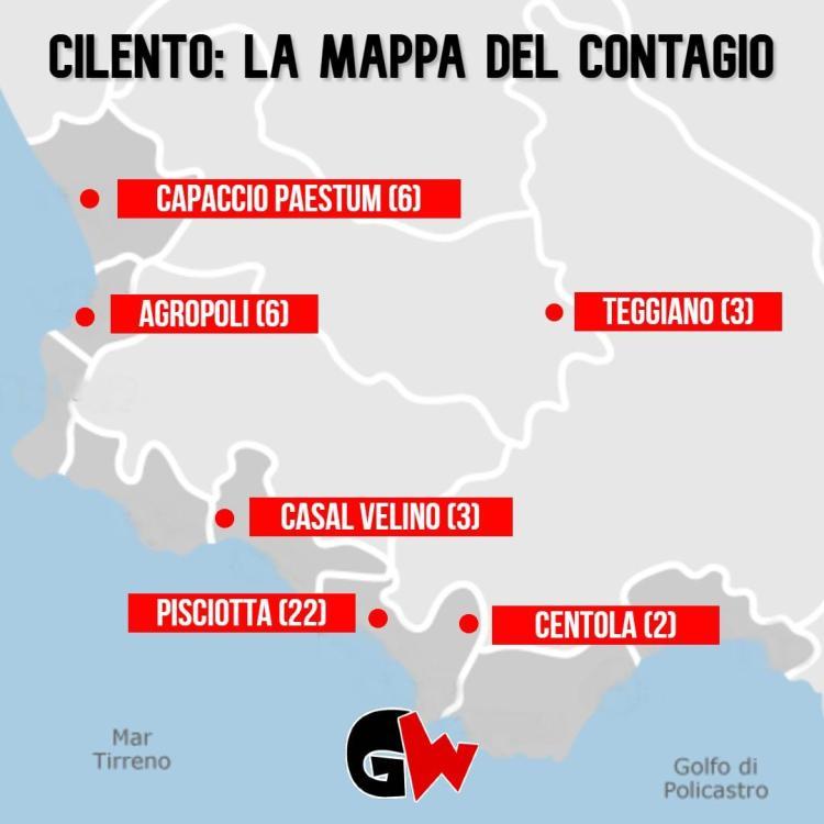 Coronavirus Cilento: nuovi contagi a Pisciotta e Teggiano - Gwendalina.tv