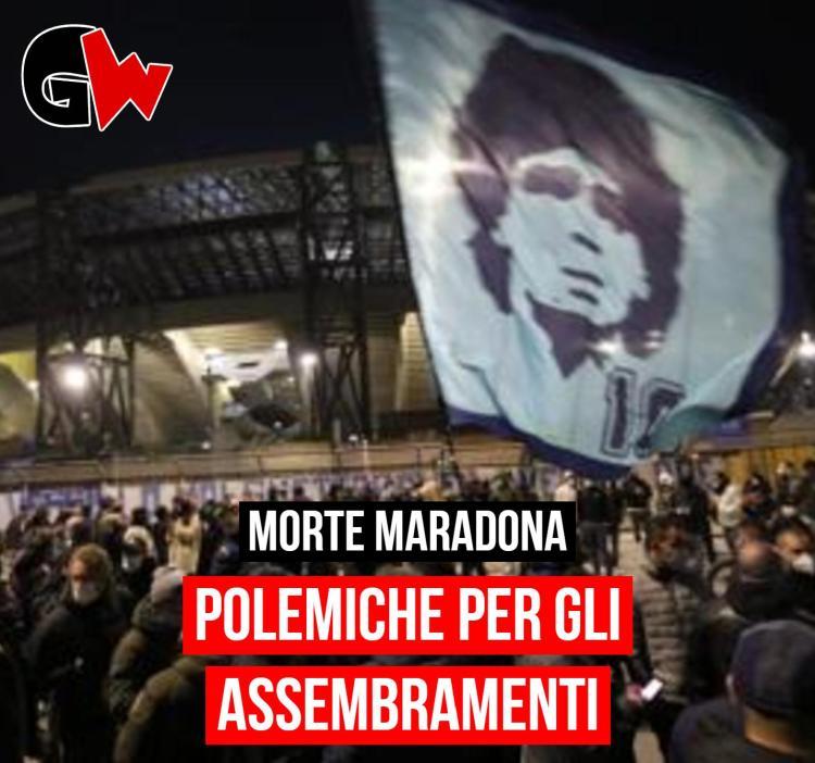 Morte Maradona, polemiche per gli assembramenti a Napoli - Gwendalina.tv