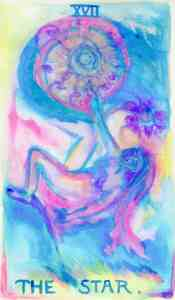 The Star, Tarot in watercolor by Gwendolyn Womack, author of The Fortune Teller