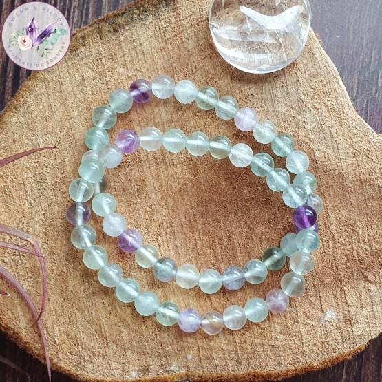bracelet stretch en fluorite