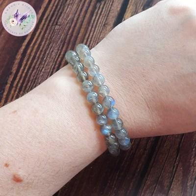 Bracelet Stretch en Labradorite