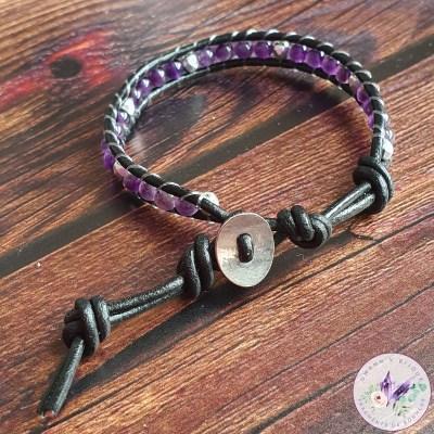 Bracelet Wrap Améthyste (1 tour)