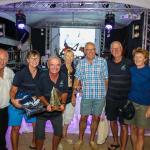 The crew and the trophy - Sunrise Elan 37 - G-whizz Elan 340