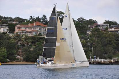 Elan 340 vs Hanse 400e GFS Start