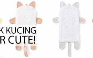 Unik! Ada Handuk Berbentuk Kucing dari Jepang
