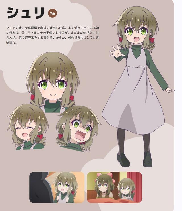 Visual karakter Shuri, adik perempuan Fina dari anime TV Kuma Kuma Kuma Bear yang akan datang.