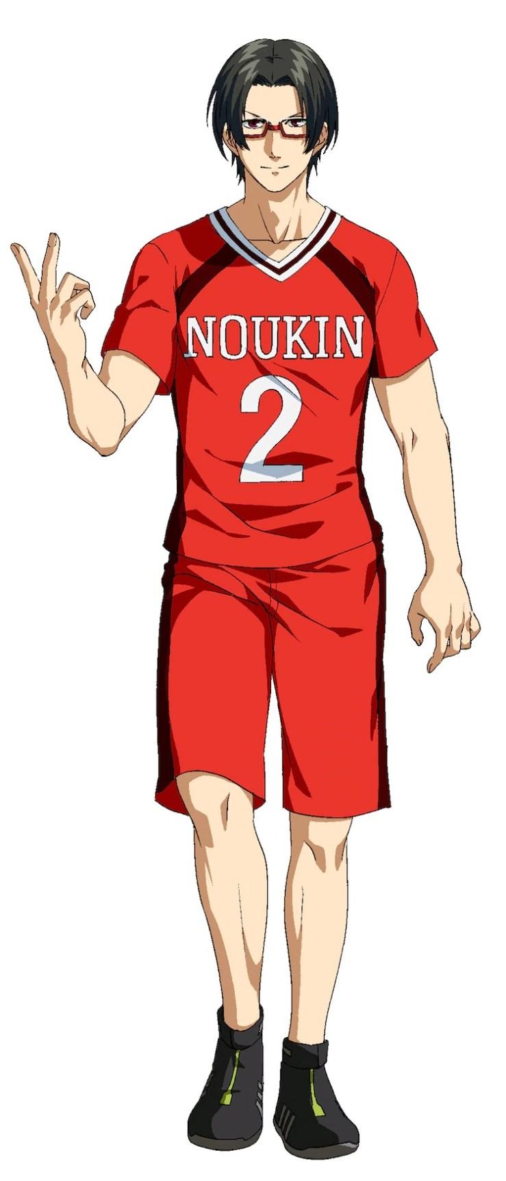 Sebuah pengaturan karakter Kei Iura, anggota berkacamata dari klub kabaddi Sekolah Menengah Noukin yang sikap lembutnya menyembunyikan kelicikan yang kejam, dari anime TV Kabaddi yang akan datang.
