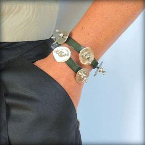 "Bracelet cuir femme double tour "" Farandole "" 5"