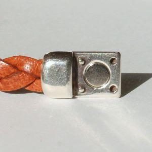 Bracelet cuir enfant lanière tressée 2