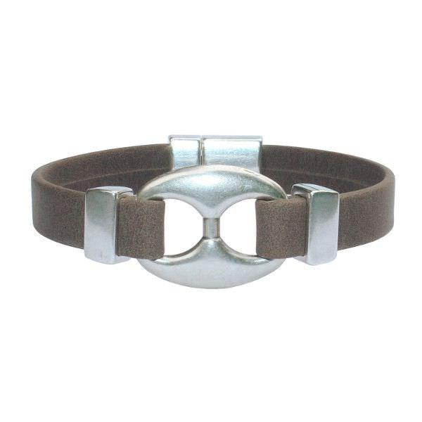 """Bracelet homme cuir denver marron mat """"Grain De Café"""""""