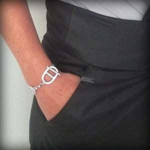 Bracelet femme cuir maille Marine 6
