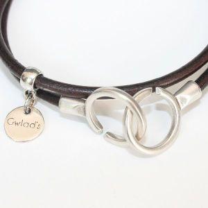 """Bracelet cuir femme 2 tours """"Menottes"""" 3"""