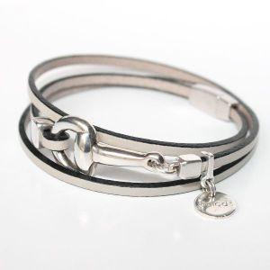 Bracelet femme cuir mors cheval argent équestre 2