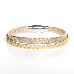 bracelet cuir enfant fille Gold doré 1