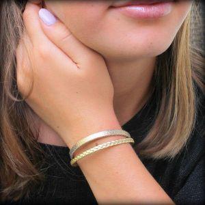 bracelet cuir enfant fille Gold doré 4
