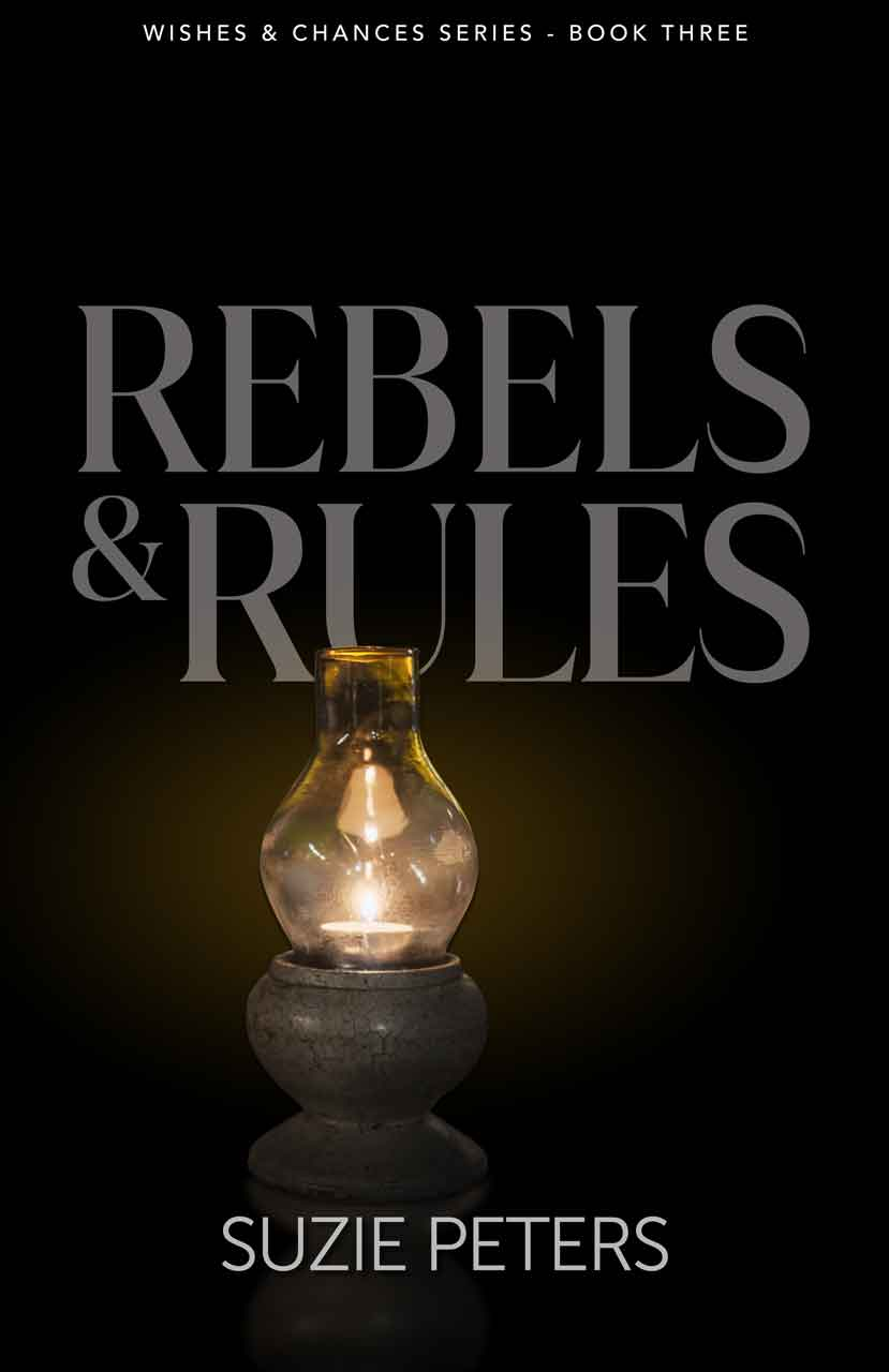 Rebels and Rules, by Suzie Peters, front cover image.